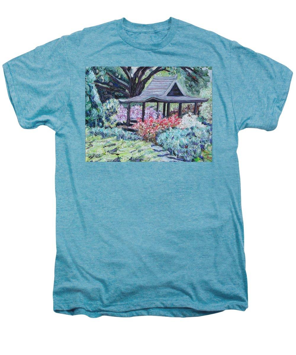 Garden Men's Premium T-Shirt featuring the painting Japanese Garden by Richard Nowak