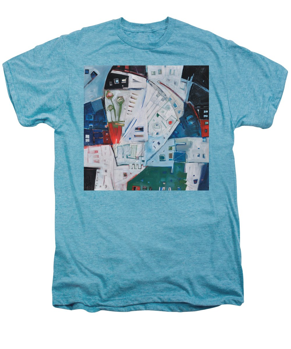 Jazz Men's Premium T-Shirt featuring the painting Jazz In Bloom by Tim Nyberg