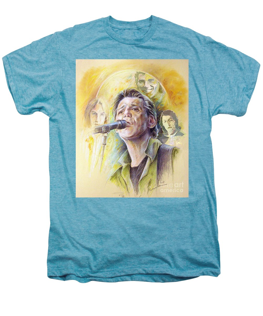 Jeff Christie Men's Premium T-Shirt featuring the painting Jeff Christie by Miki De Goodaboom
