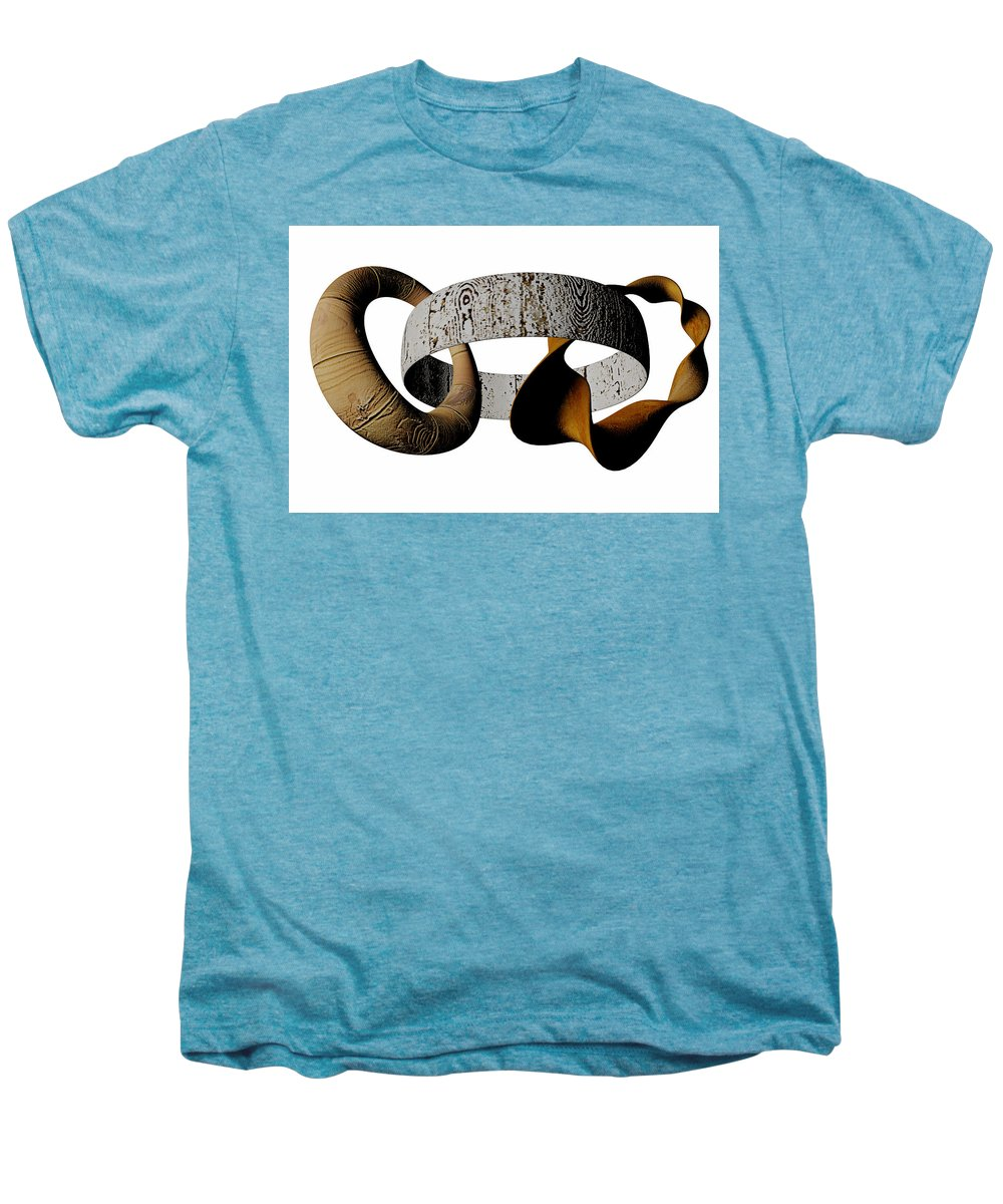 Circle Men's Premium T-Shirt featuring the digital art Join Circles by R Muirhead Art