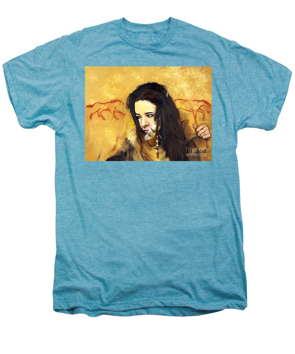 Southwest Art Men's Premium T-Shirt featuring the painting Journey by J W Baker
