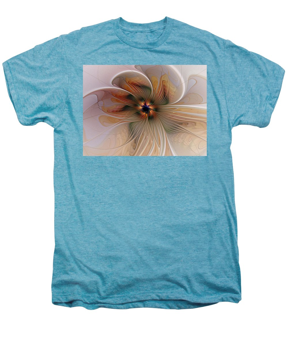Digital Art Men's Premium T-Shirt featuring the digital art Just Peachy by Amanda Moore