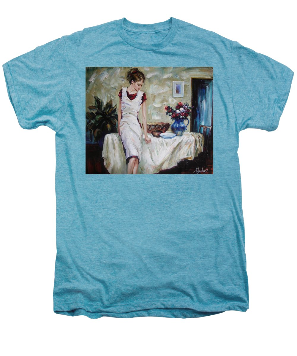 Figurative Men's Premium T-Shirt featuring the painting Just The Next Day by Sergey Ignatenko