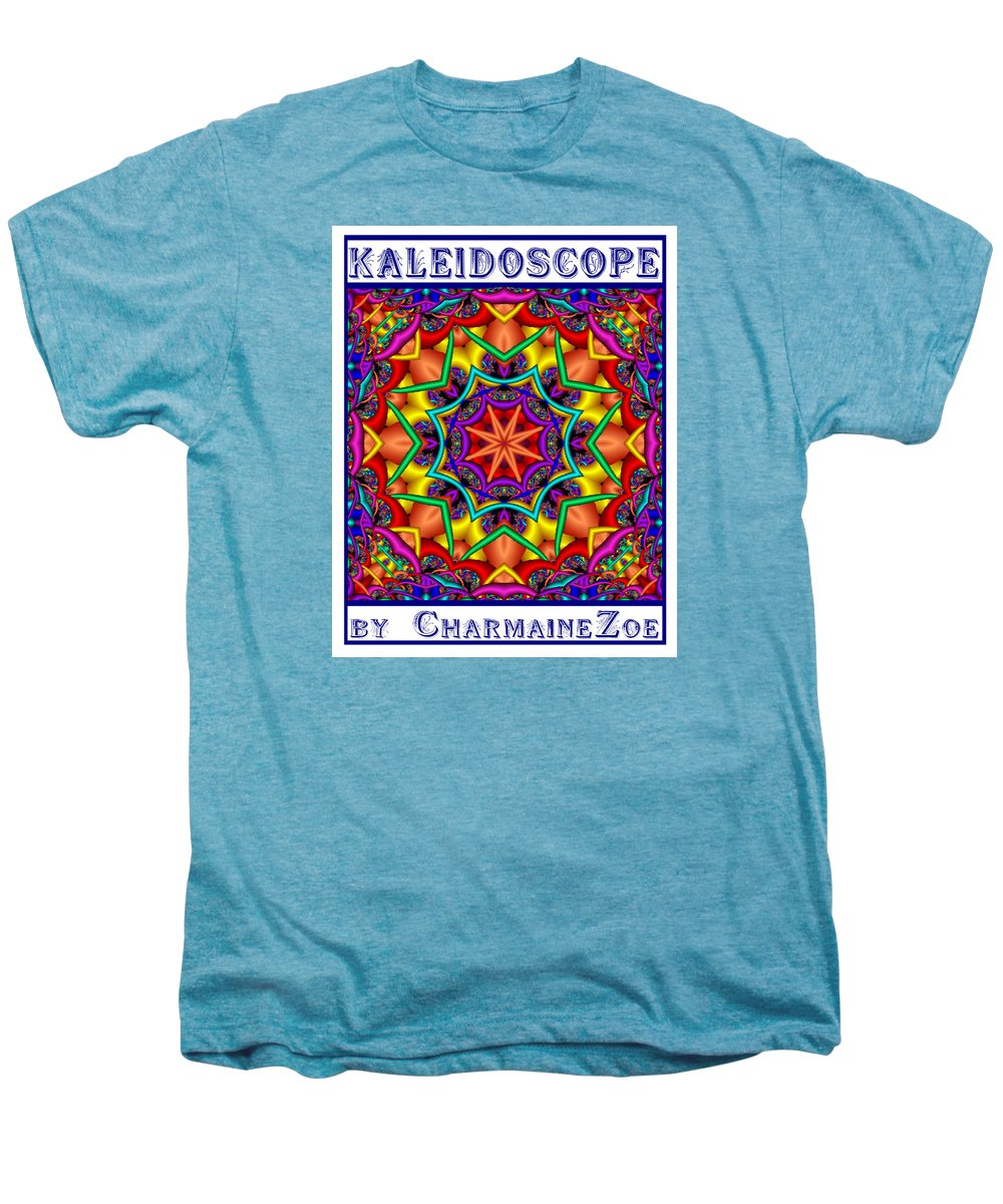 Kaleidoscope Men's Premium T-Shirt featuring the digital art Kaleidoscope 2 by Charmaine Zoe