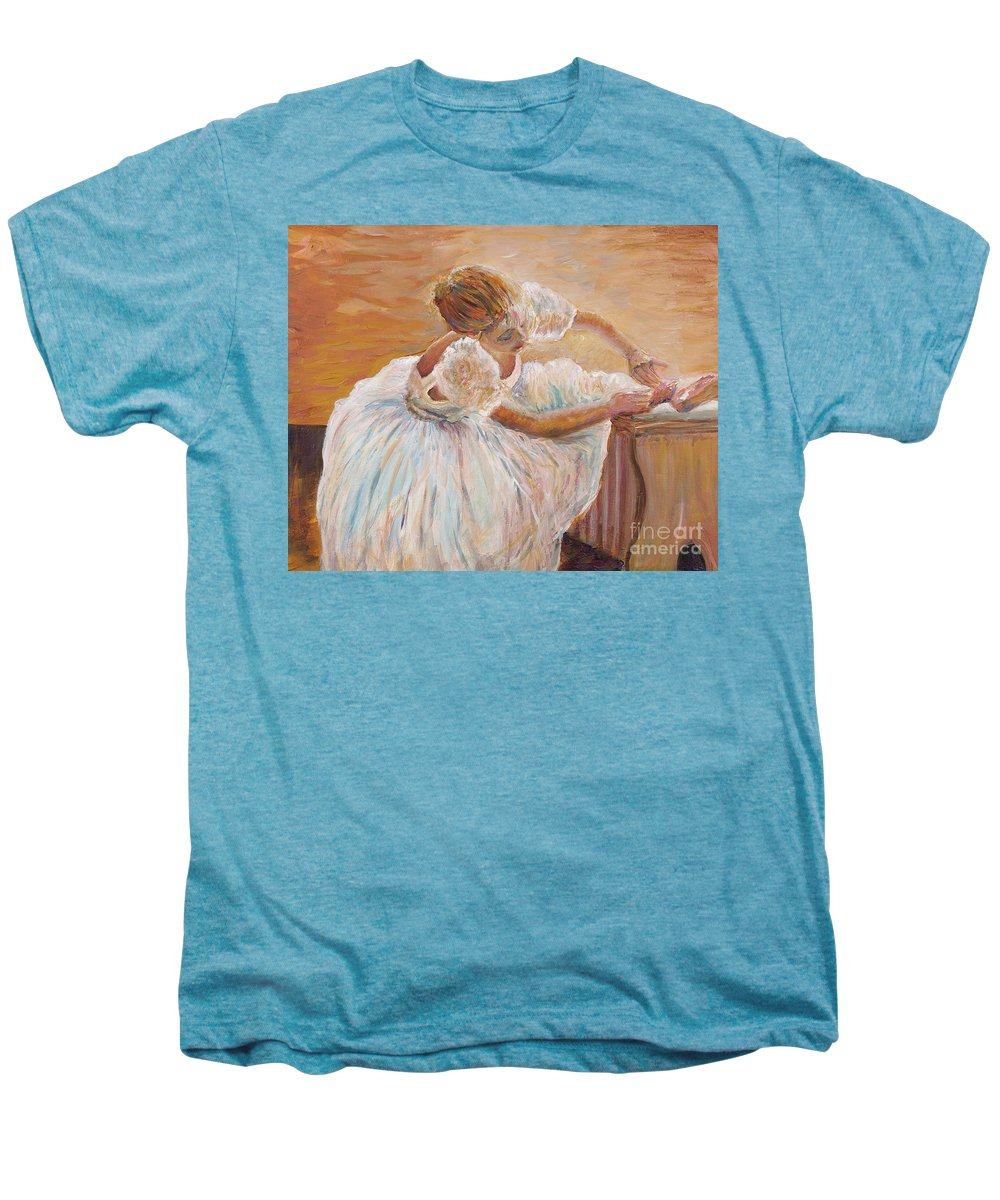 Dancer Men's Premium T-Shirt featuring the painting Kaylea by Nadine Rippelmeyer