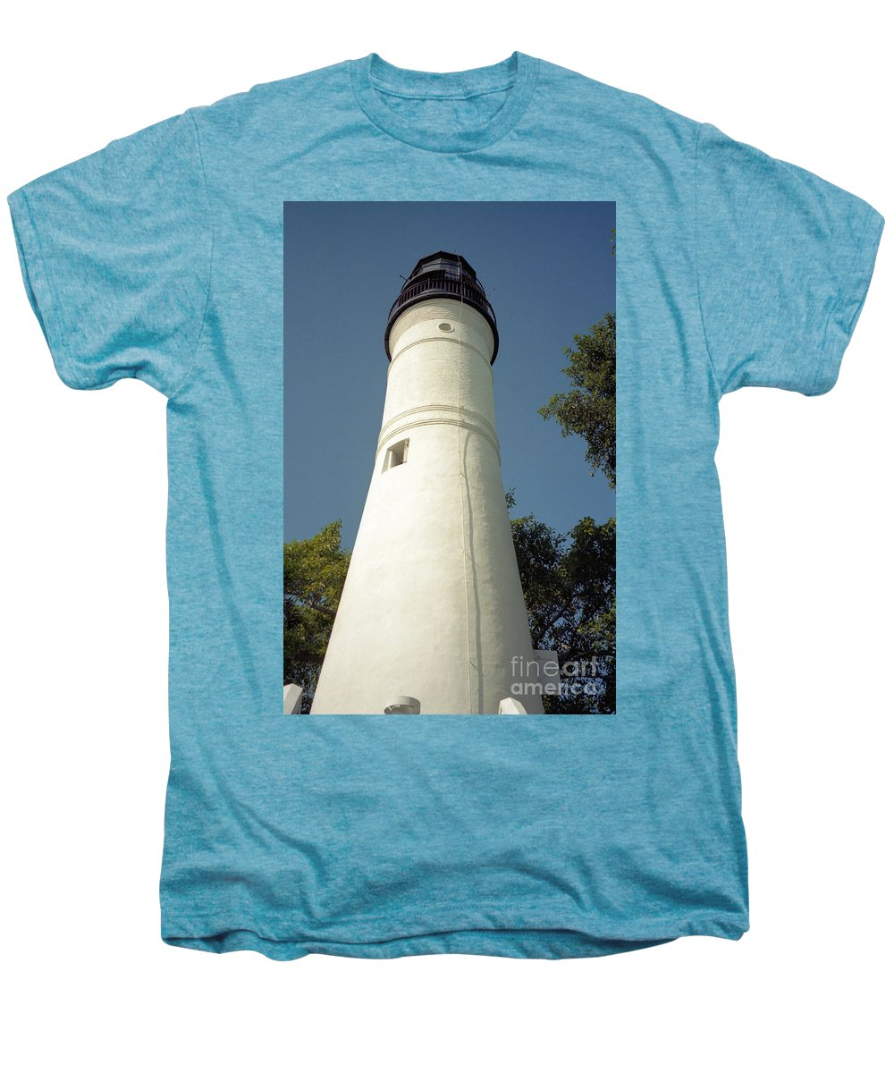 Lighthouses Men's Premium T-Shirt featuring the photograph Key West Lighthouse by Richard Rizzo