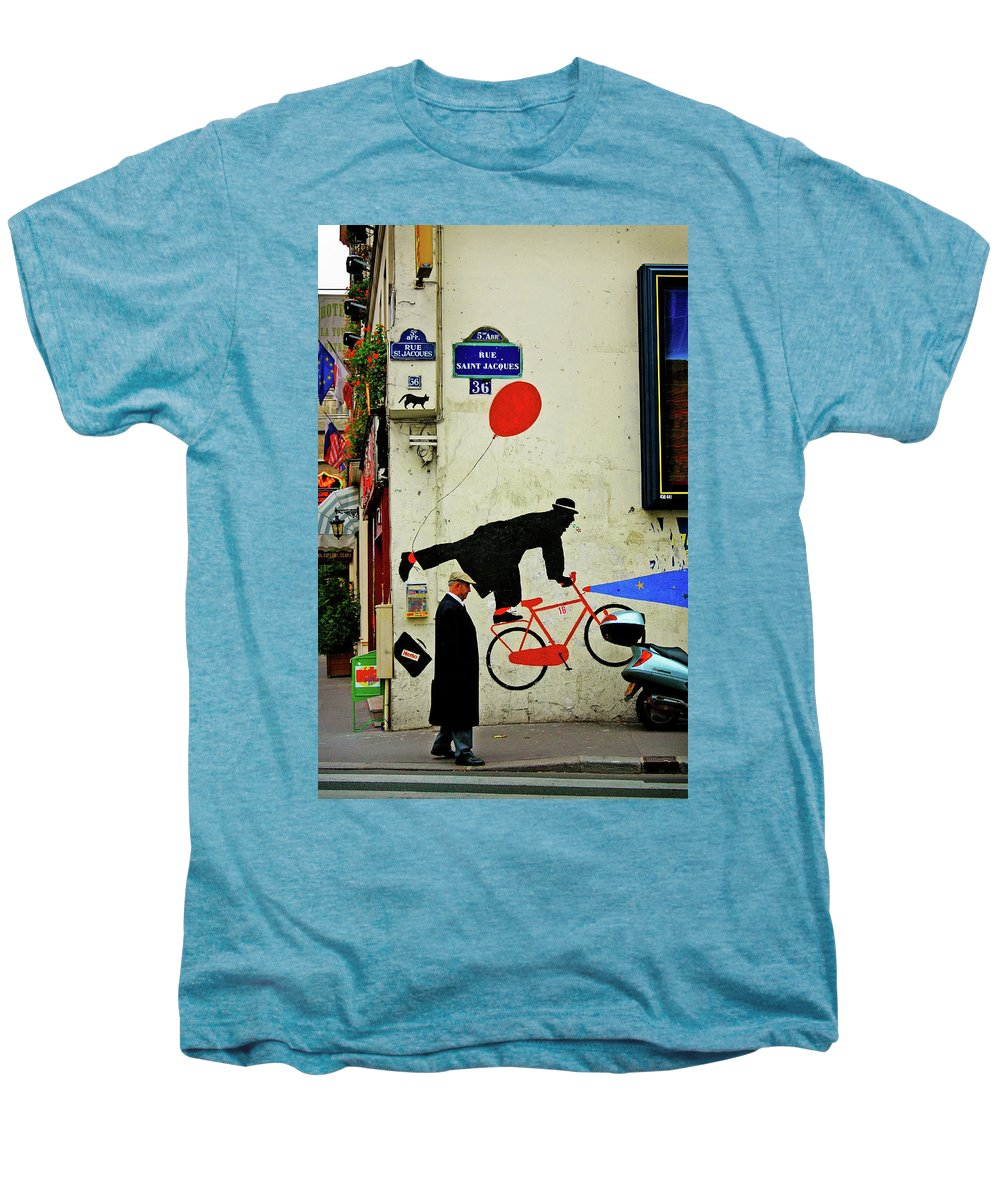 Paris Men's Premium T-Shirt featuring the photograph Kick In The Head by Skip Hunt