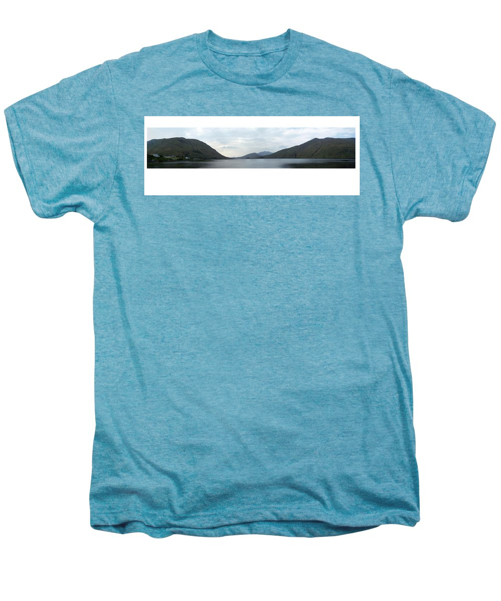 Landscape Men's Premium T-Shirt featuring the photograph Killary Harbour Leenane Ireland by Teresa Mucha