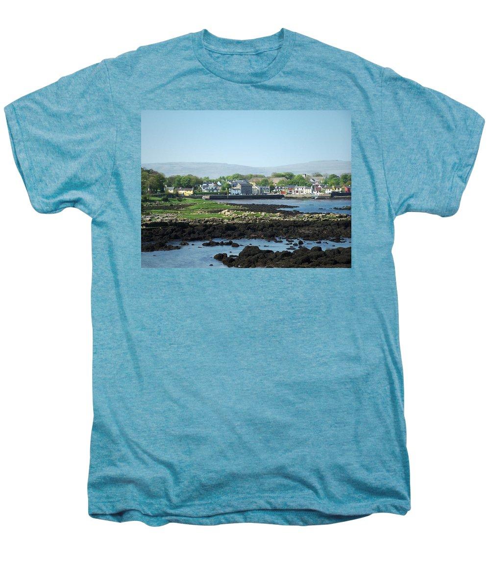 Irish Men's Premium T-Shirt featuring the photograph Kinvara Seaside Village Galway Ireland by Teresa Mucha