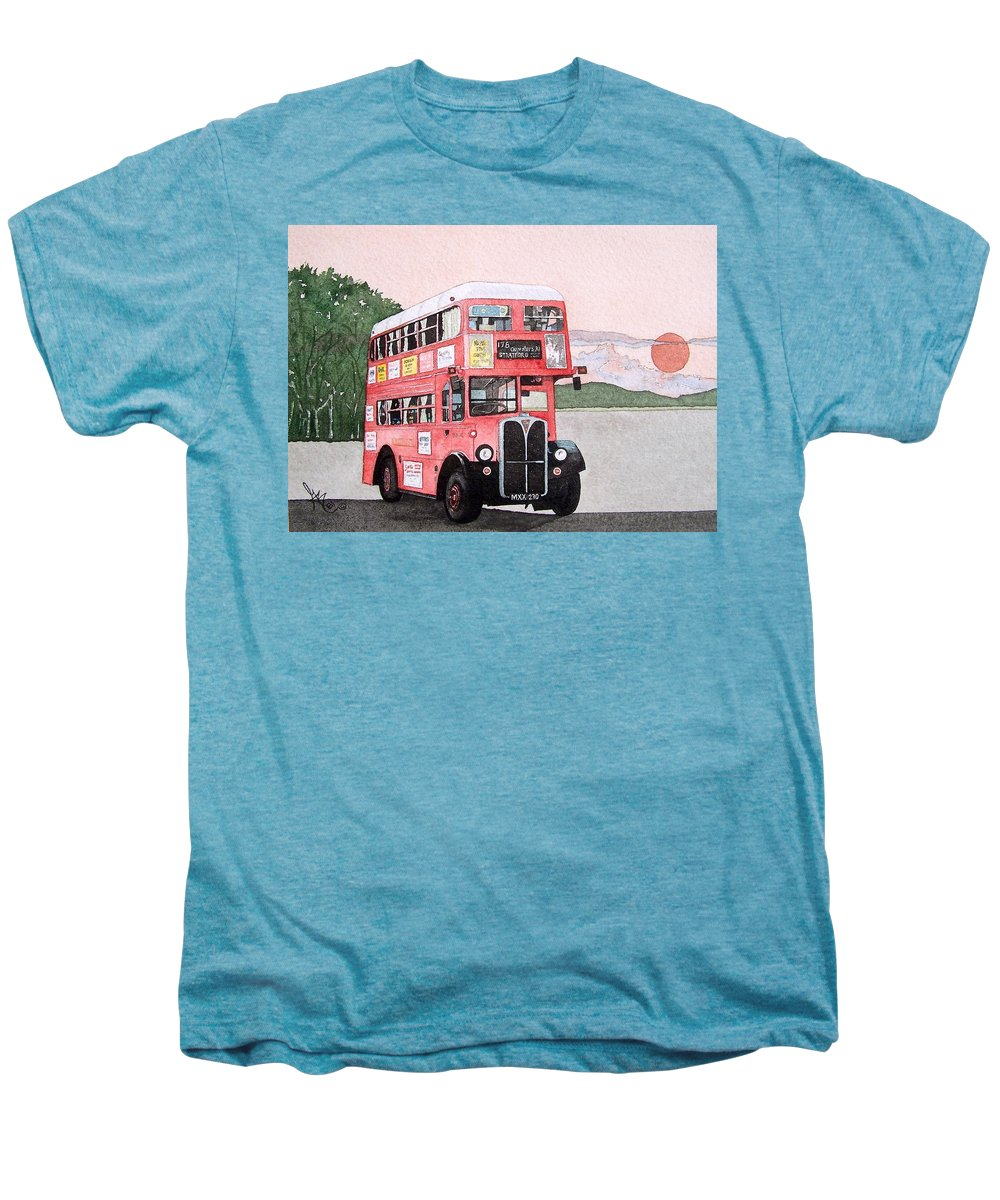 Bus Men's Premium T-Shirt featuring the painting Kirkland Bus by Gale Cochran-Smith