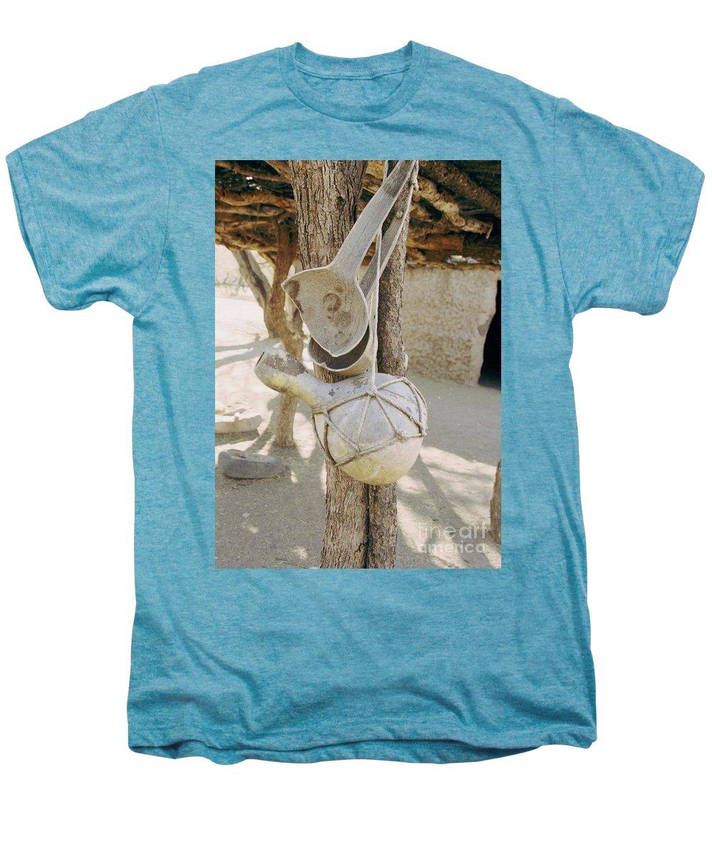 Tumacacori Men's Premium T-Shirt featuring the photograph Kitchen Utensils by Kathy McClure