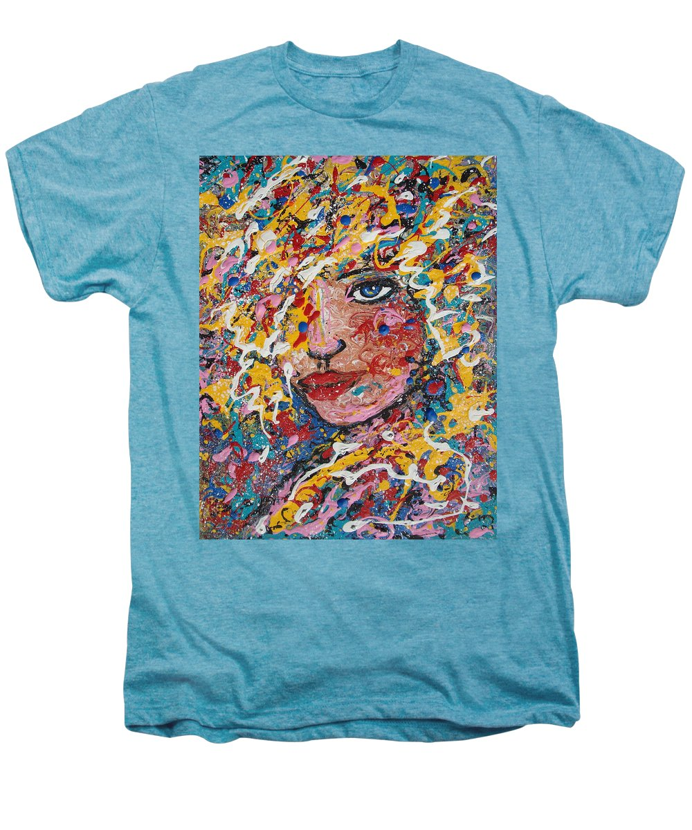 Woman Men's Premium T-Shirt featuring the painting Kuziana by Natalie Holland