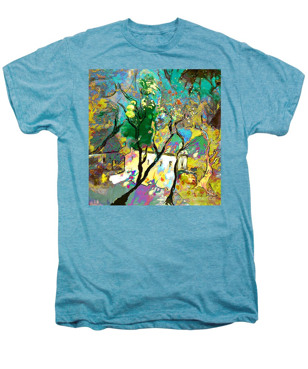 Miki Men's Premium T-Shirt featuring the painting La Provence 16 by Miki De Goodaboom
