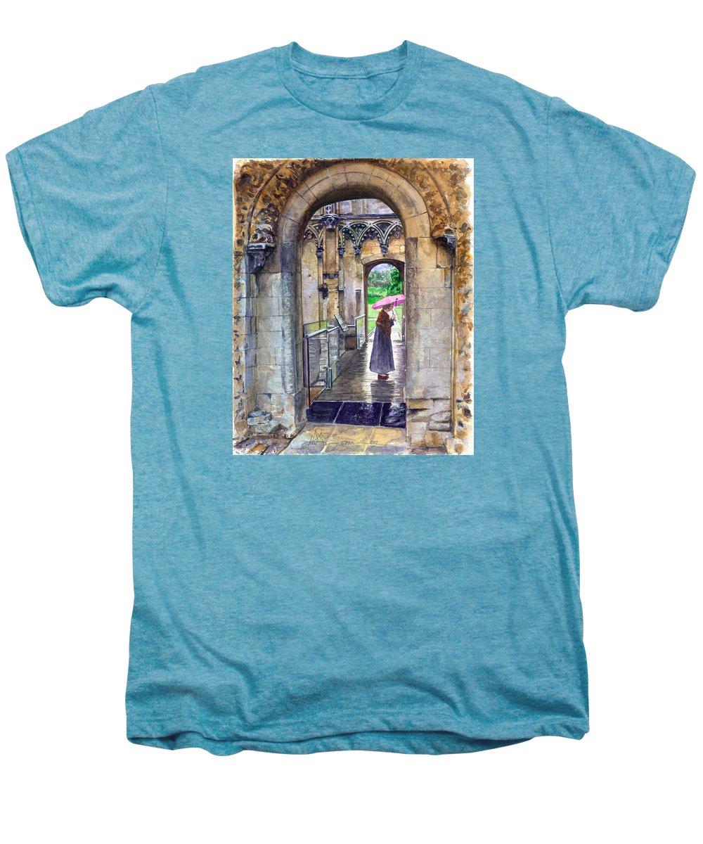 Glastonbury Men's Premium T-Shirt featuring the painting Lady Chapel by John D Benson