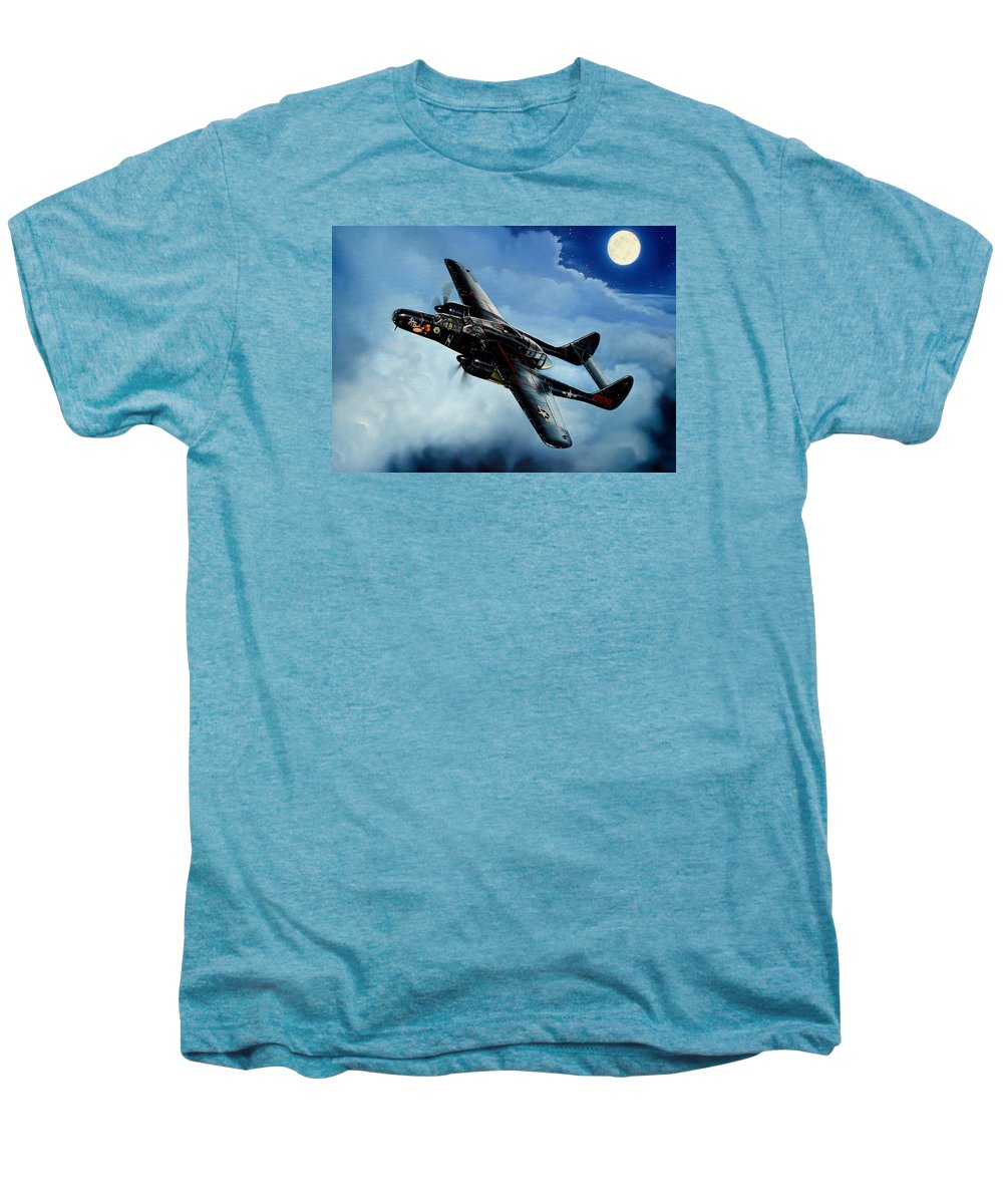 Military Men's Premium T-Shirt featuring the painting Lady In The Dark by Marc Stewart