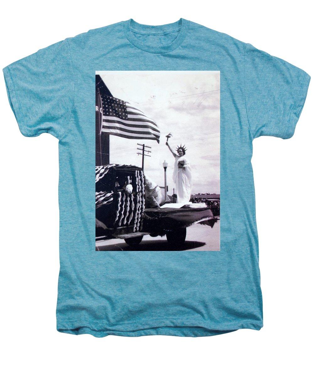 4th Of July Men's Premium T-Shirt featuring the photograph Lady Liberty by Kurt Hausmann
