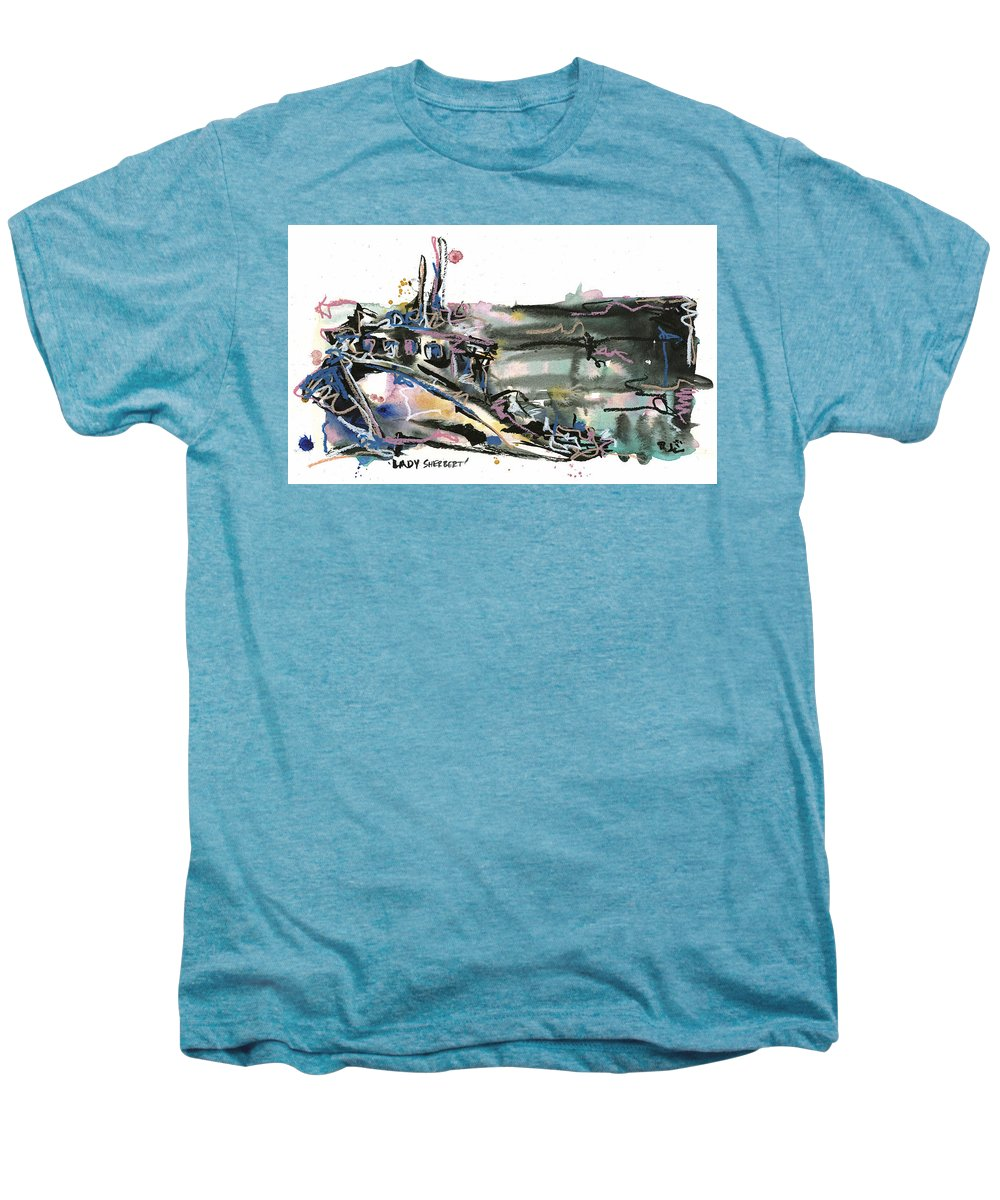 Seascape Men's Premium T-Shirt featuring the painting Lady Sherbert by Robert Joyner