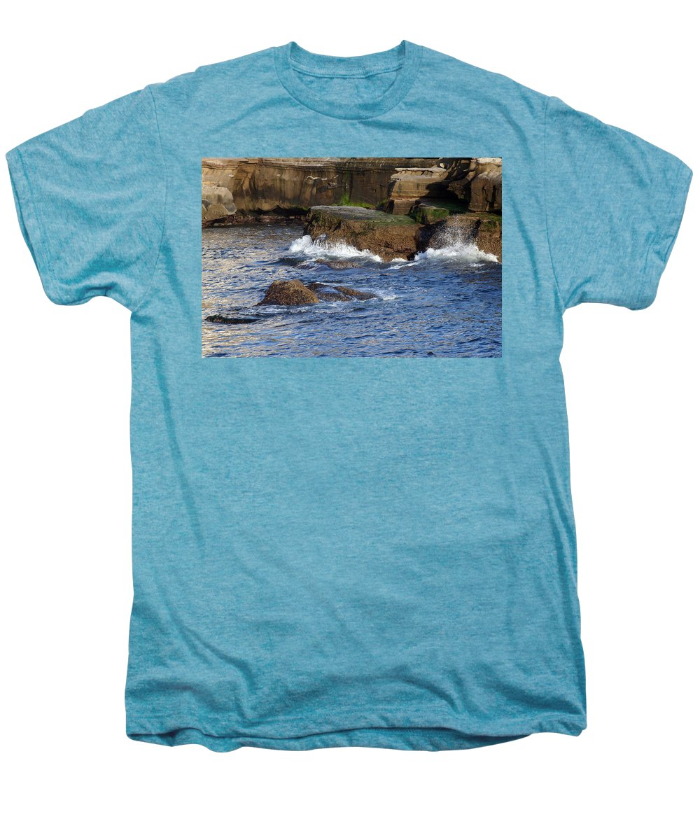 Ocean Men's Premium T-Shirt featuring the photograph Lajolla Rocks by Margie Wildblood