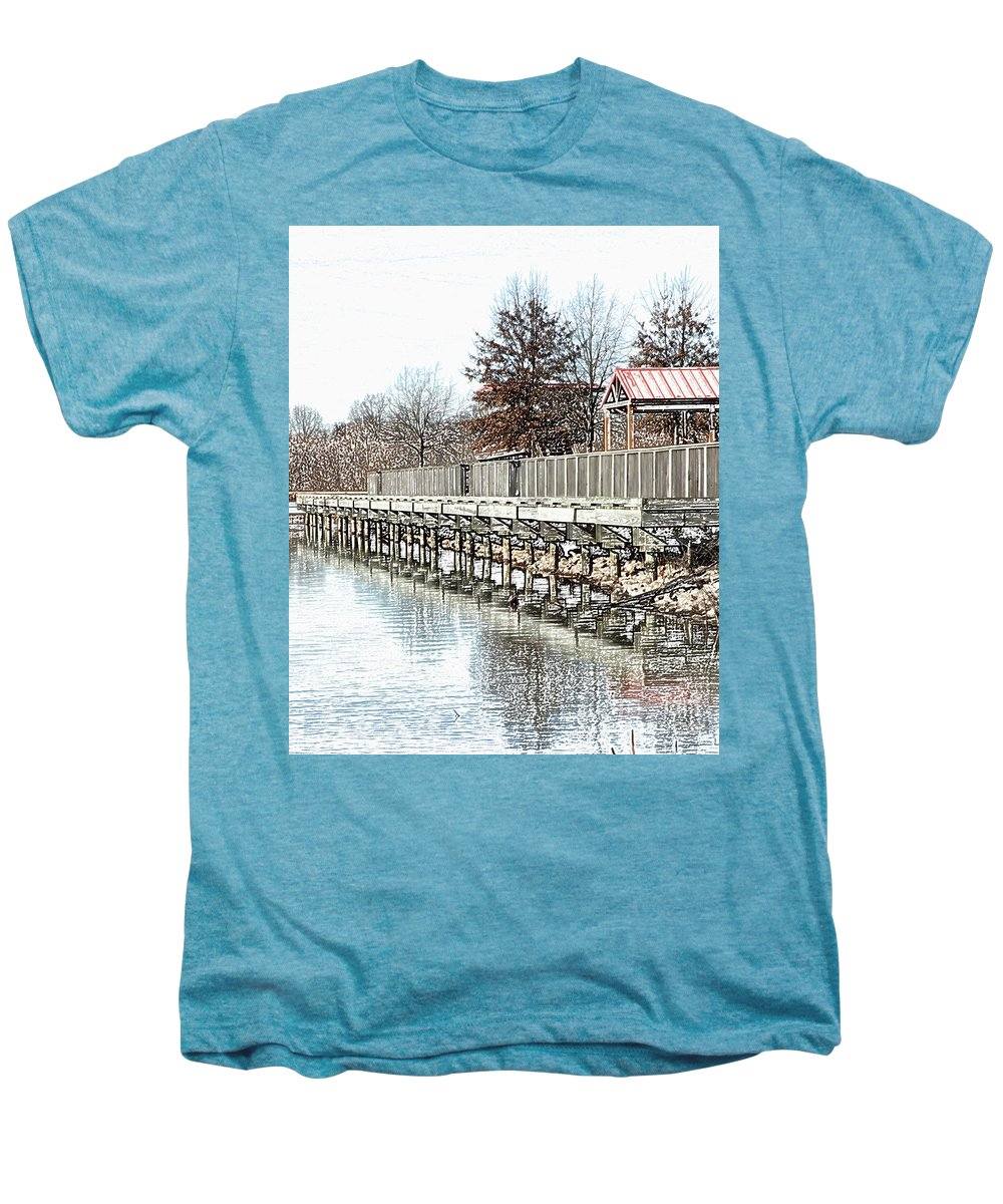 Lakes Men's Premium T-Shirt featuring the photograph Lake by Amanda Barcon