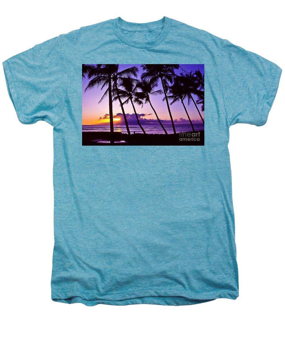 Landscapes Men's Premium T-Shirt featuring the photograph Lanai Sunset by Jim Cazel