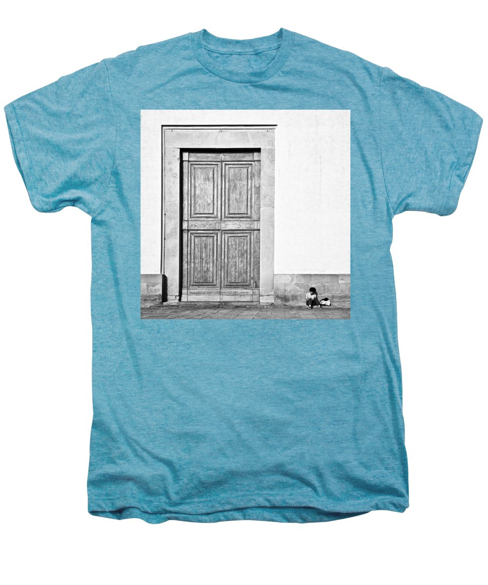 Door Men's Premium T-Shirt featuring the photograph Land Of The Giants by Dave Bowman