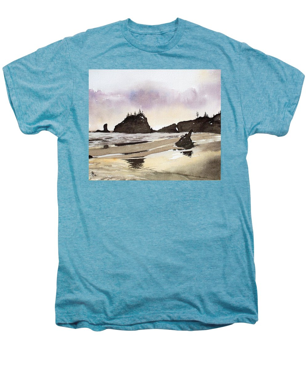 Washington Men's Premium T-Shirt featuring the painting Lapush by Gale Cochran-Smith