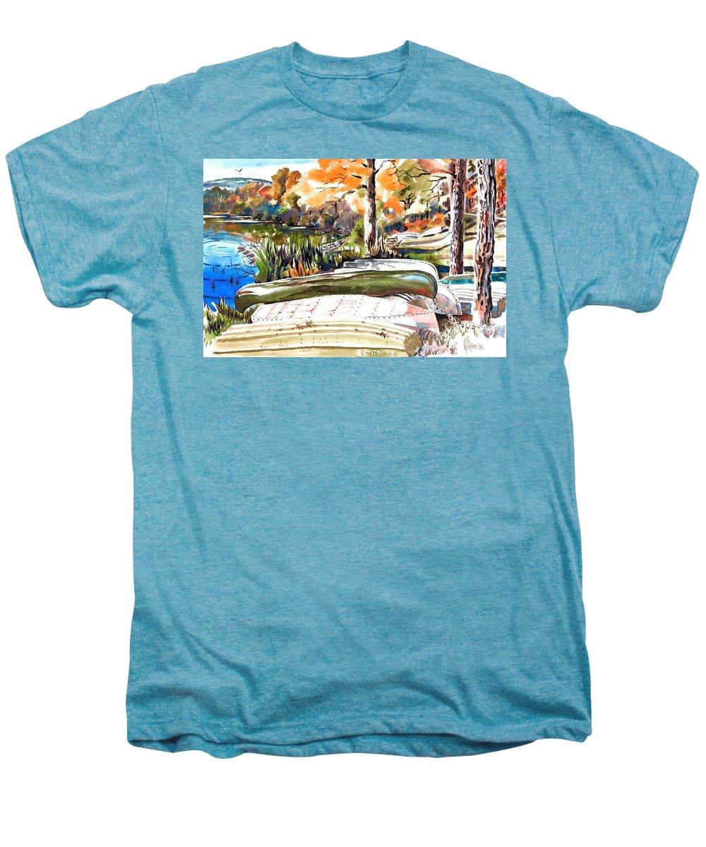 Last Summer In Brigadoon Men's Premium T-Shirt featuring the painting Last Summer In Brigadoon by Kip DeVore