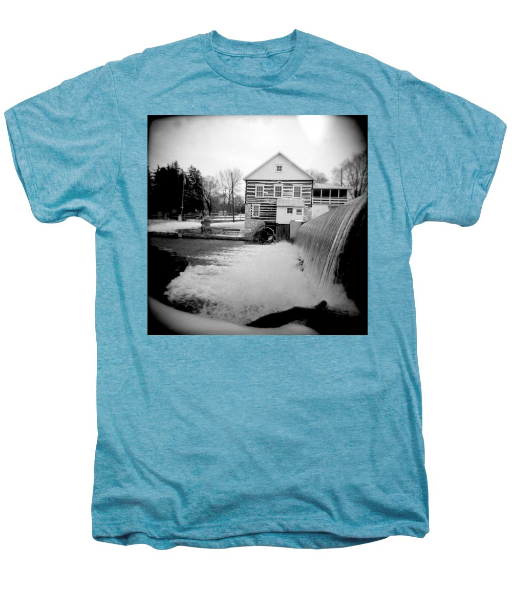 Photograph Men's Premium T-Shirt featuring the photograph Laughlin Mill by Jean Macaluso