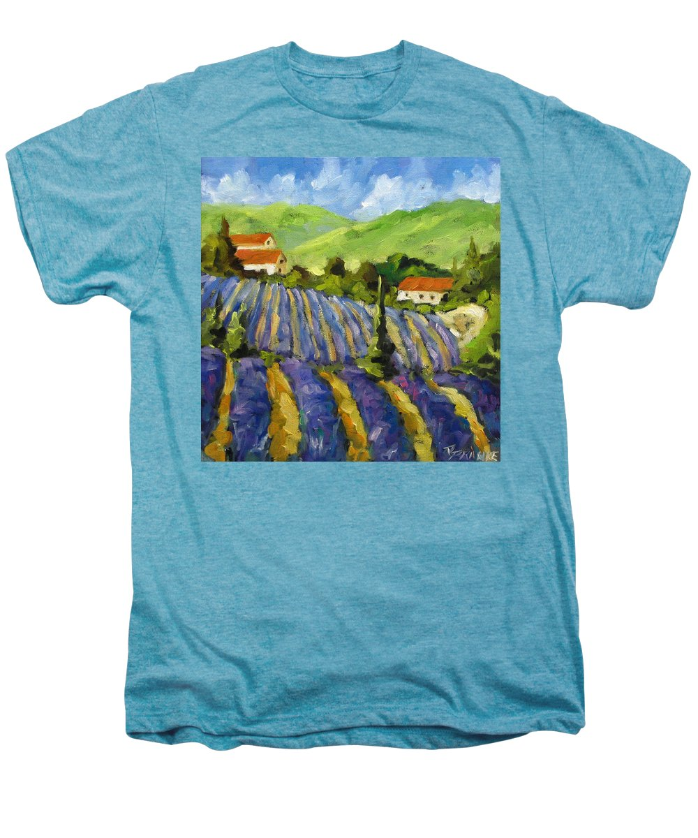 Art Men's Premium T-Shirt featuring the painting Lavender Scene by Richard T Pranke