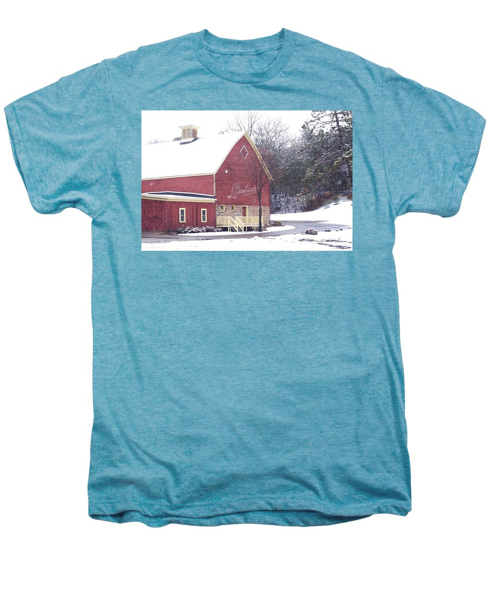 Barn Men's Premium T-Shirt featuring the photograph Leinie by Tim Nyberg