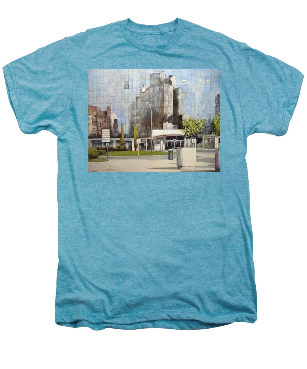 Leon Men's Premium T-Shirt featuring the painting Leon by Tomas Castano