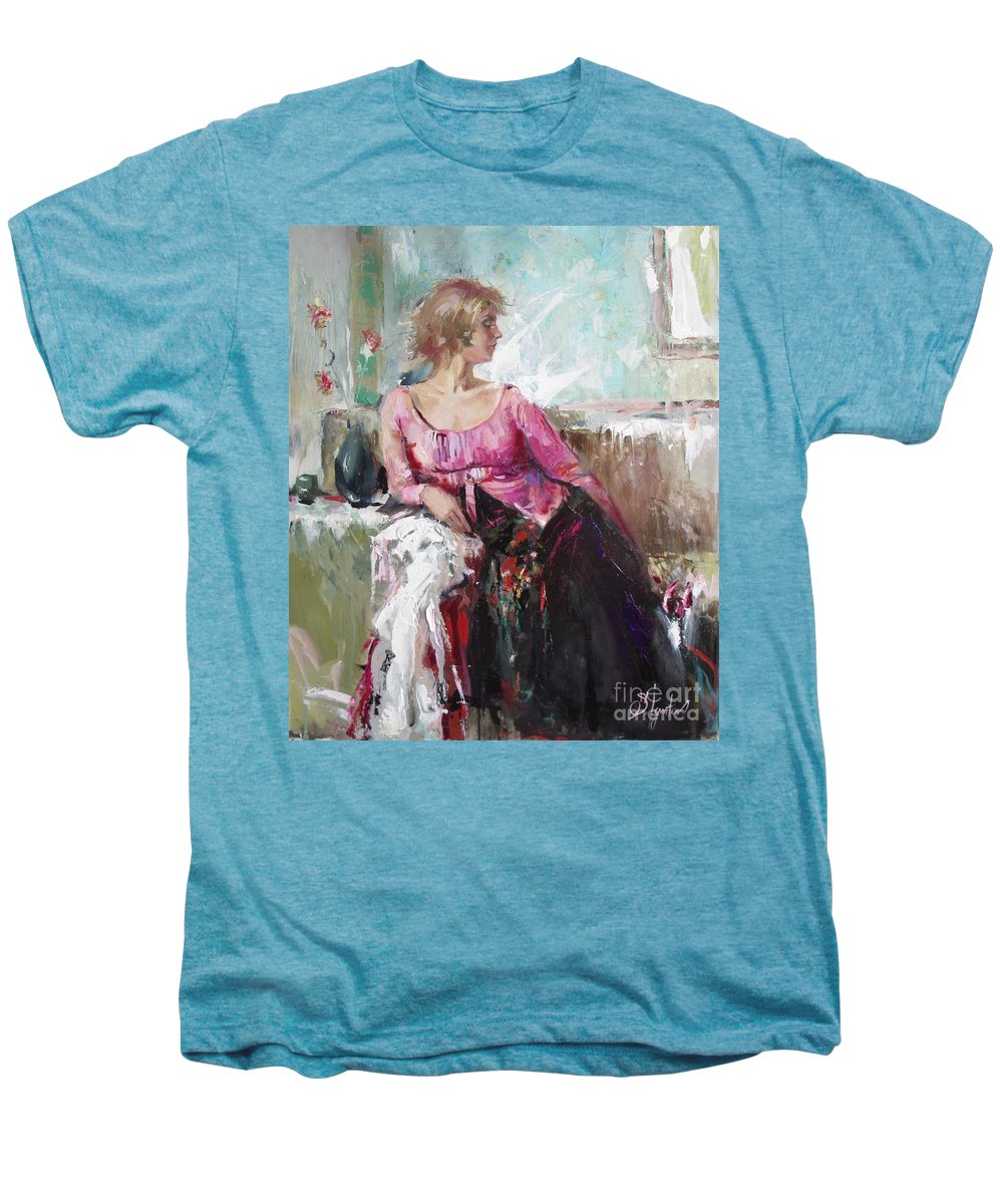 Ignatenko Men's Premium T-Shirt featuring the painting Lera by Sergey Ignatenko