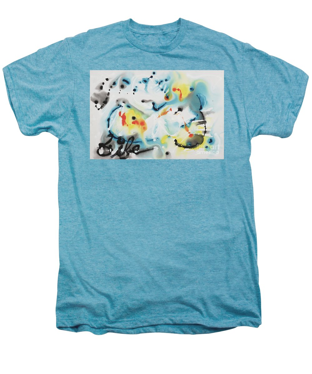 Life Men's Premium T-Shirt featuring the painting Life by Nadine Rippelmeyer