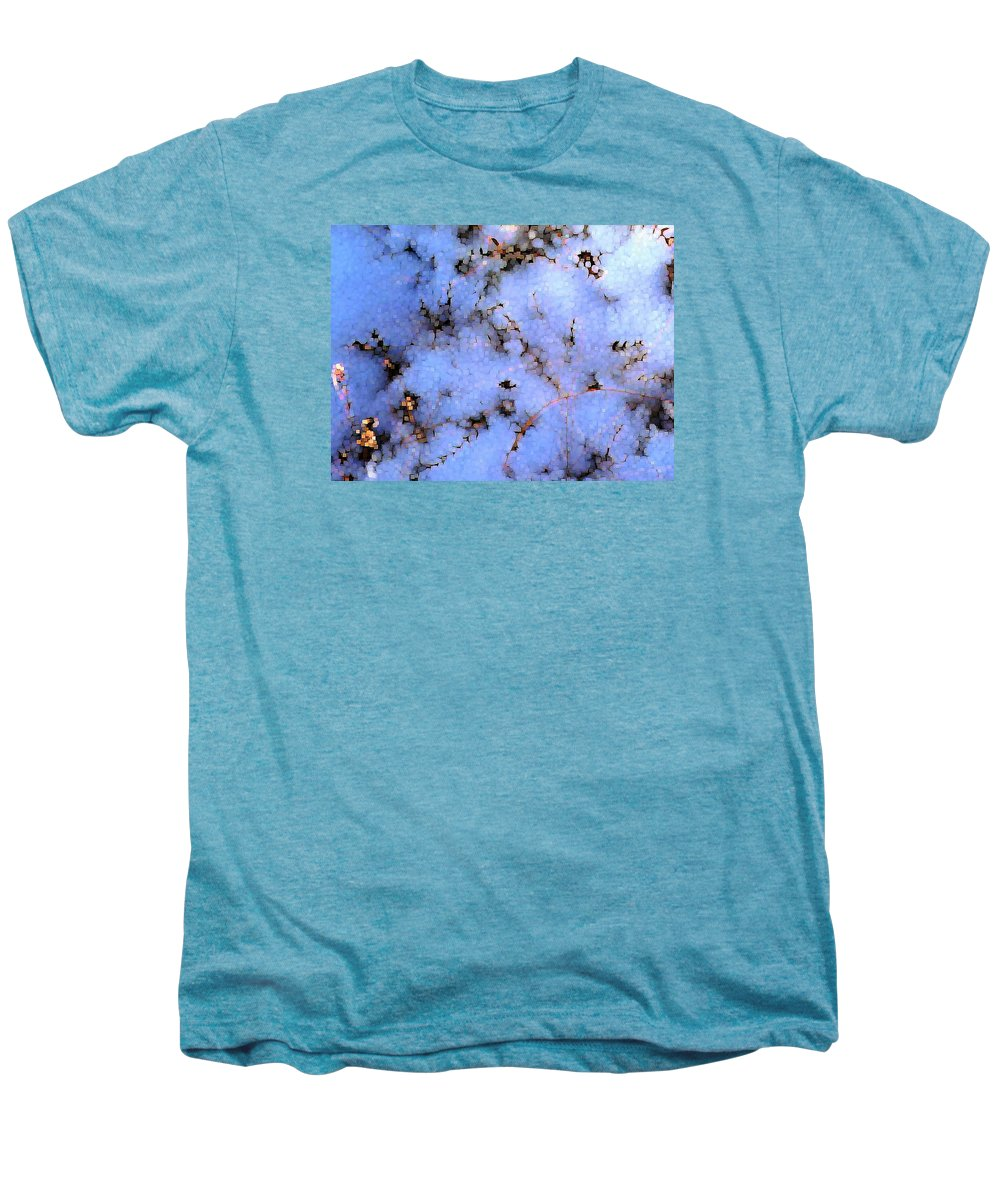 Abstract Men's Premium T-Shirt featuring the digital art Light Snow In The Woods by Dave Martsolf