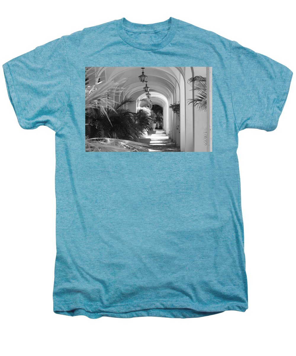 Architecture Men's Premium T-Shirt featuring the photograph Lighted Arches by Rob Hans