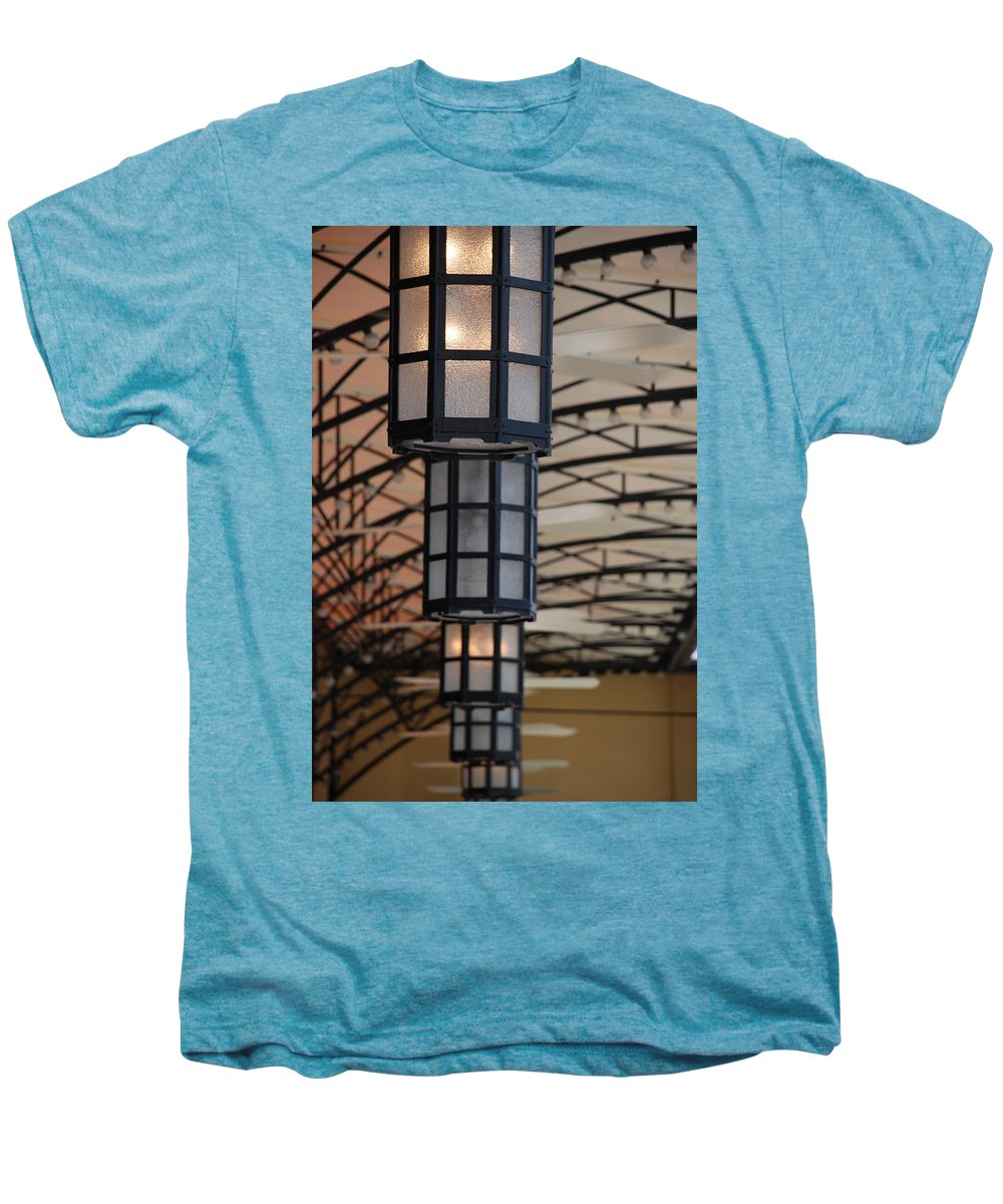 Architecture Men's Premium T-Shirt featuring the photograph Lights At City Place by Rob Hans