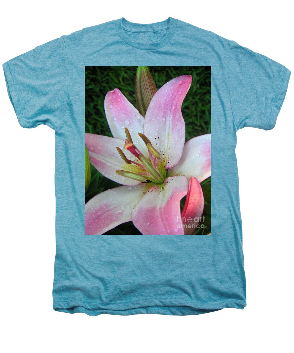 Nature Men's Premium T-Shirt featuring the photograph Lily Singled Out by Lucyna A M Green
