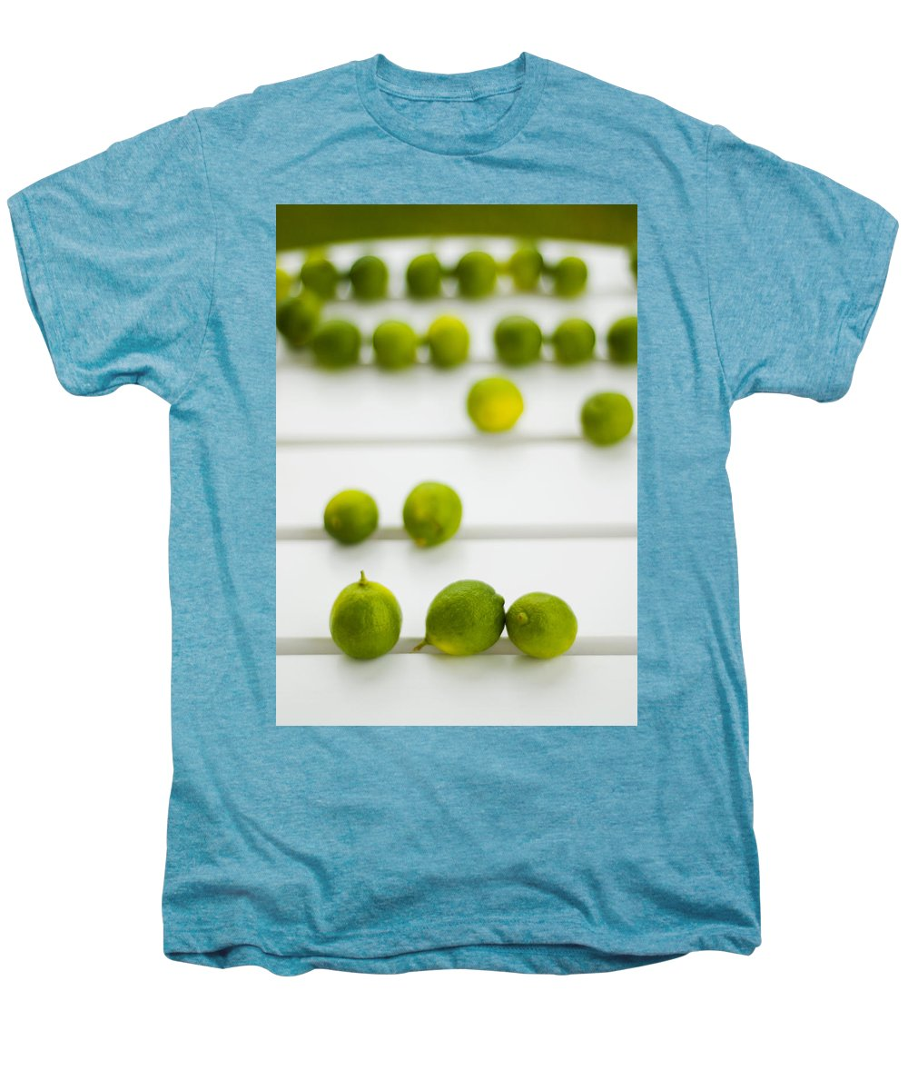 Green Men's Premium T-Shirt featuring the photograph Lime Green by Skip Hunt