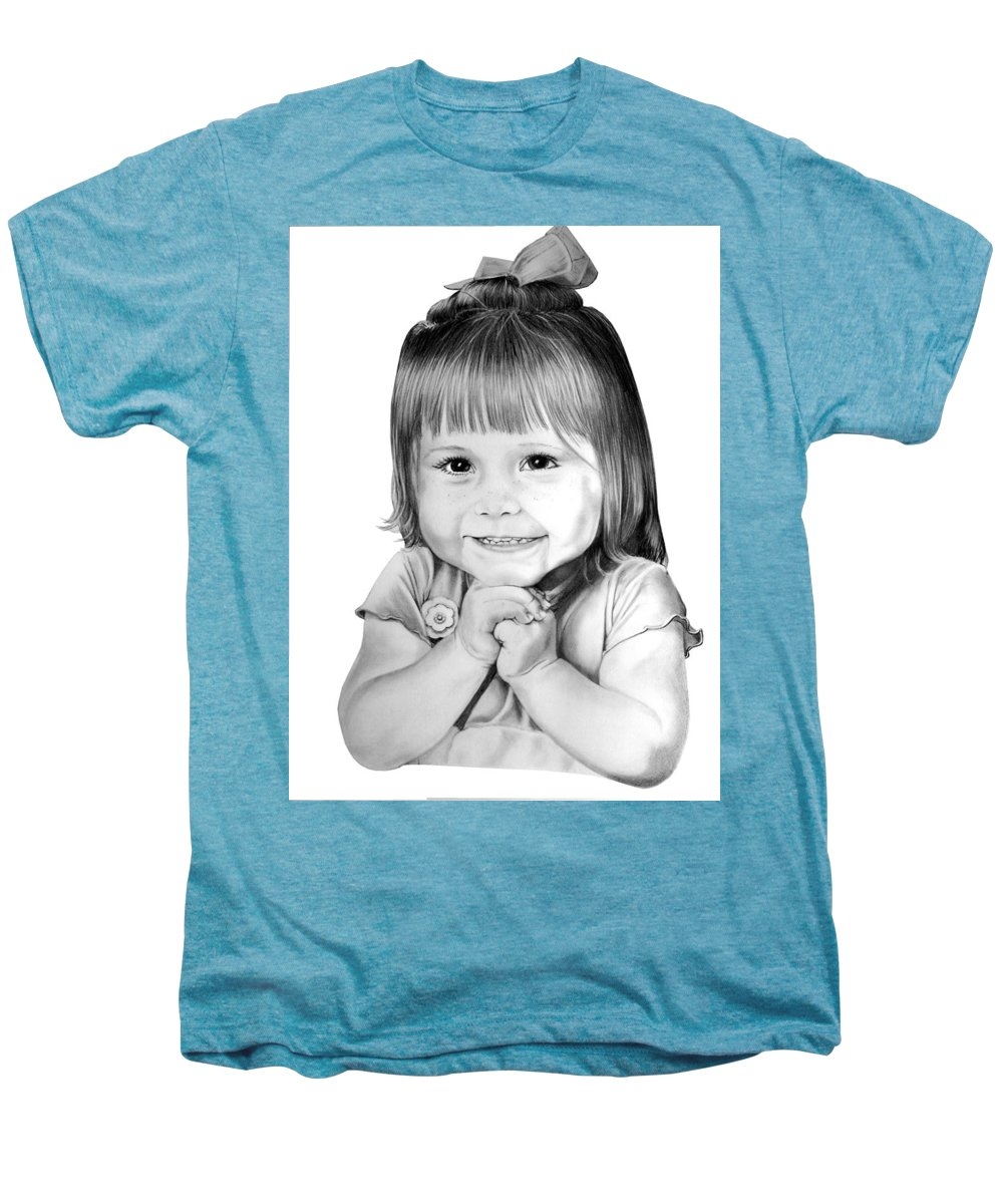 Child Men's Premium T-Shirt featuring the drawing Little Bailey by Murphy Elliott