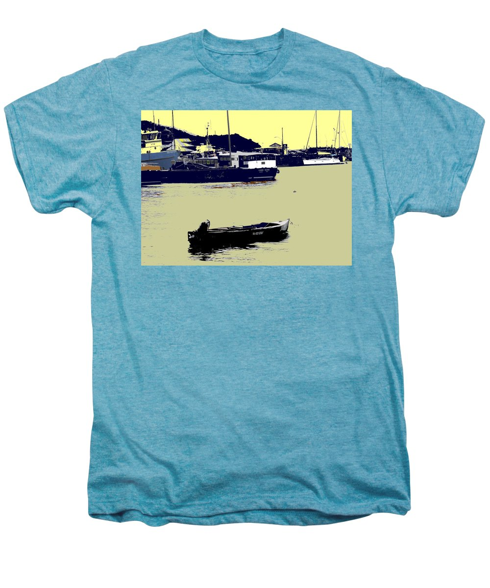 St Kitts Men's Premium T-Shirt featuring the photograph Lone Boat by Ian MacDonald