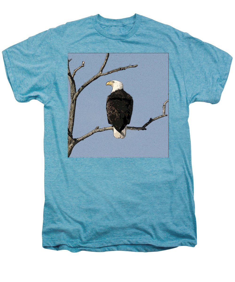 Eagle Men's Premium T-Shirt featuring the photograph Look Out by Robert Pearson