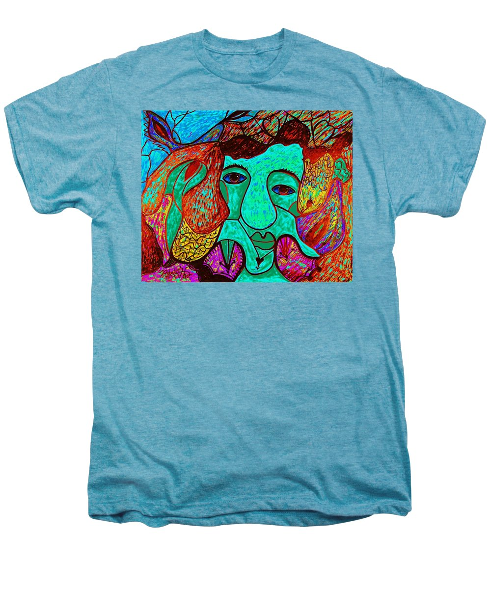Man Men's Premium T-Shirt featuring the painting Looking For Love by Natalie Holland