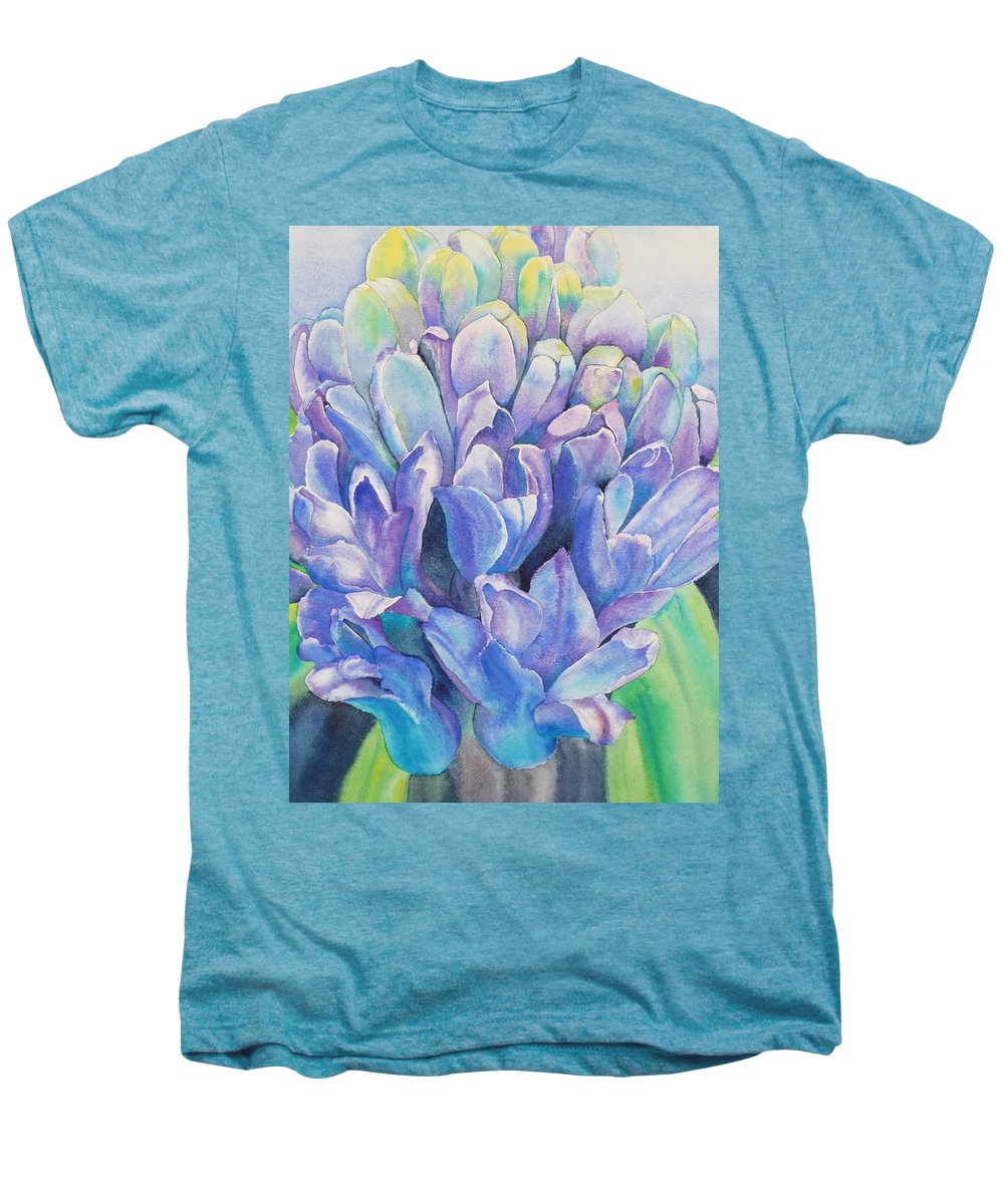 Flower Men's Premium T-Shirt featuring the painting Lovely Lupine by Ruth Kamenev