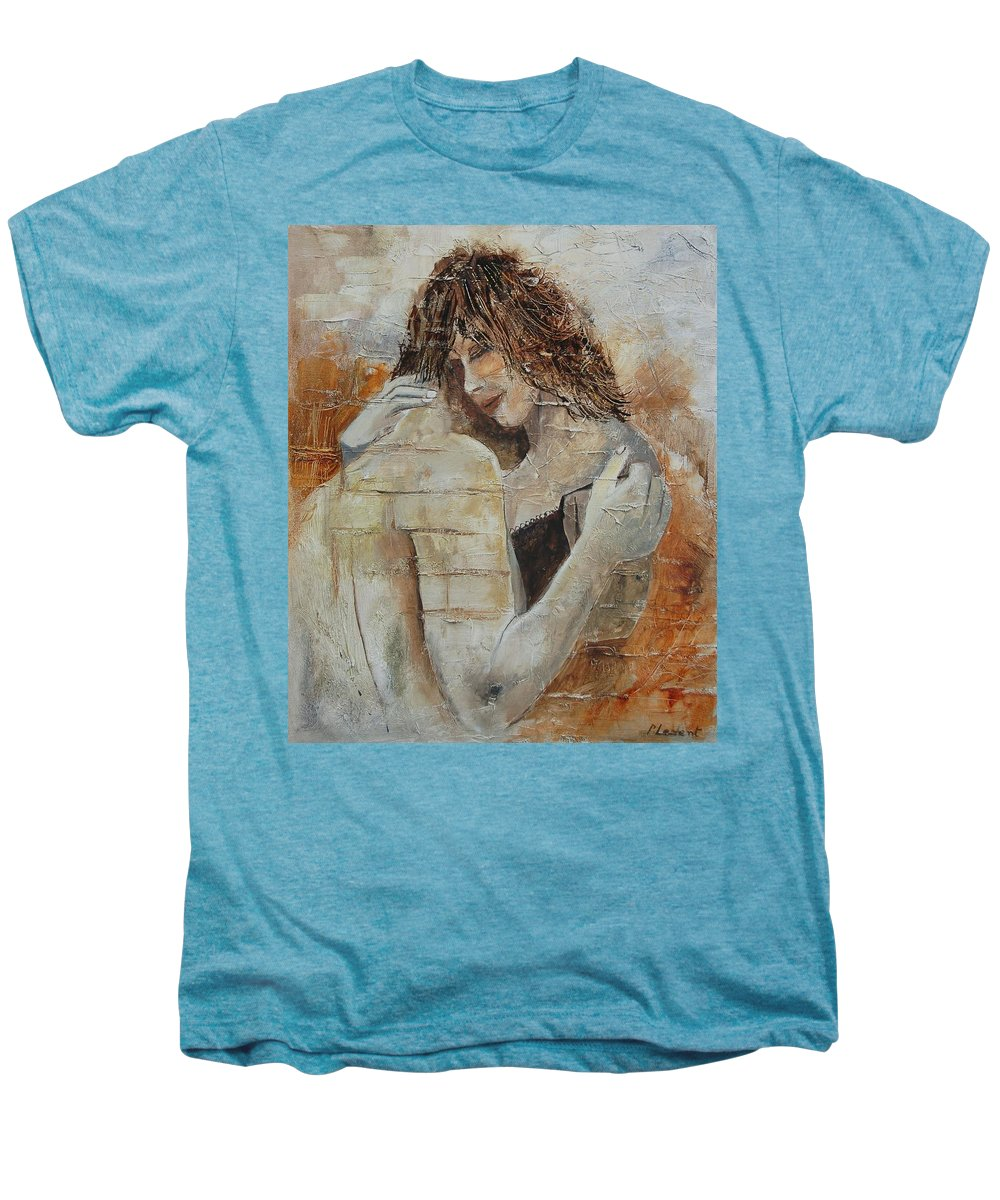 Girl Men's Premium T-Shirt featuring the painting Loving Couple by Pol Ledent