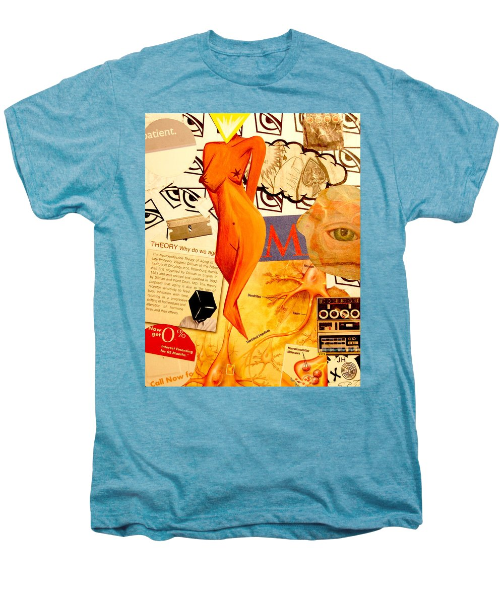Luck Men's Premium T-Shirt featuring the mixed media Luck Of The Draw by A 2 H D
