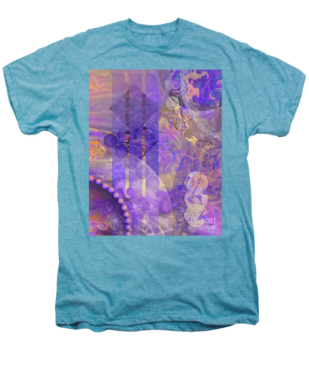 Lunar Impressions 2 Men's Premium T-Shirt featuring the digital art Lunar Impressions 2 by John Beck