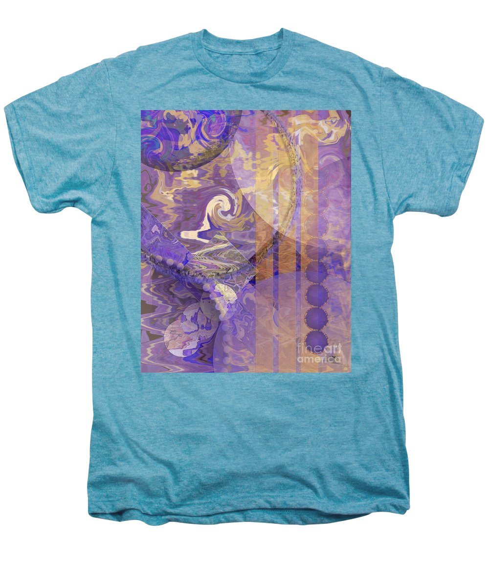 Lunar Impressions Men's Premium T-Shirt featuring the digital art Lunar Impressions by John Beck