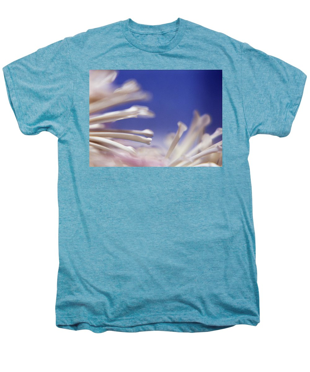 Macro Men's Premium T-Shirt featuring the photograph Macro Flower 2 by Lee Santa