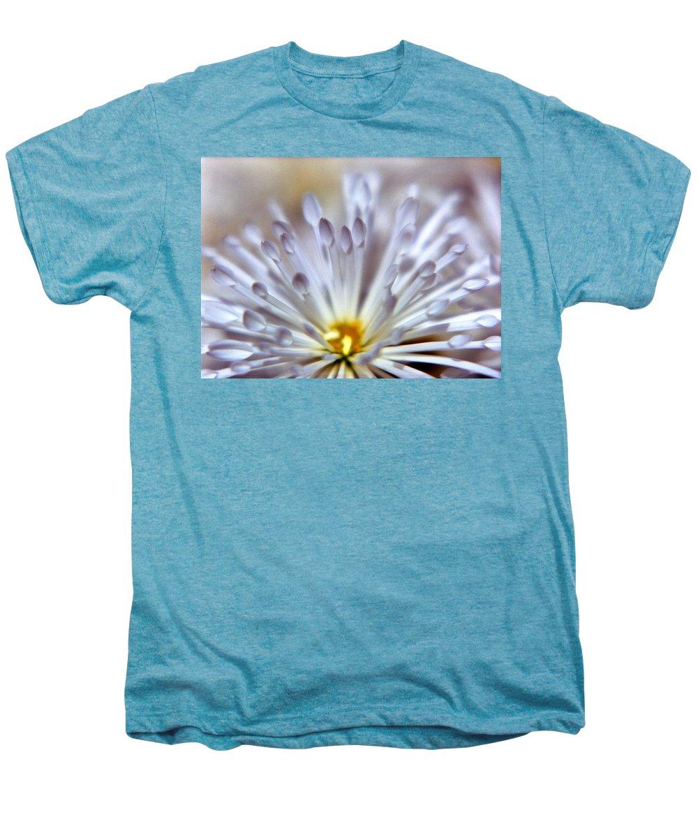 Macro Men's Premium T-Shirt featuring the photograph Macro Flower 3 by Lee Santa