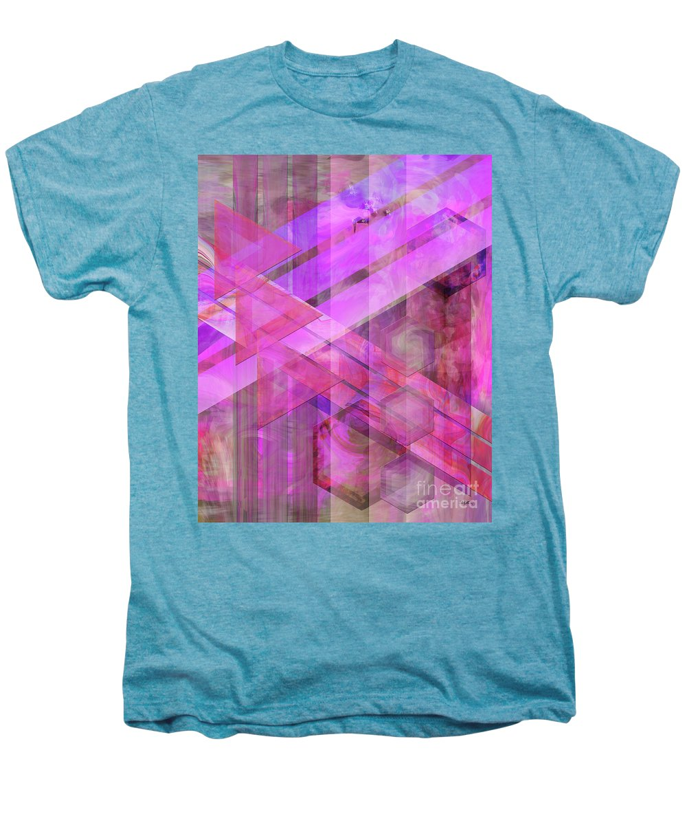 Magenta Haze Men's Premium T-Shirt featuring the digital art Magenta Haze by John Beck